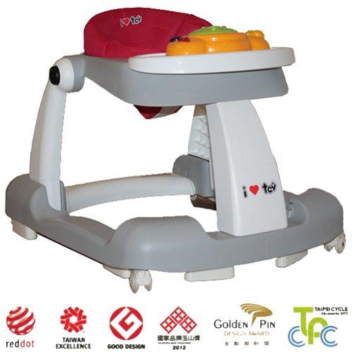 2in1 Gehfrei Lauflernhilfe Laufhilfe Gehhilfe Spielcenter SILIKON-Rollen **TREPPEN FALLSCHUTZ** Stufenlose Sitzhöhenverstellung (ca. 5cm)