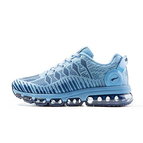Onemix Air Zapatillas De Running Deportes para Hombre Mujer Gimnasio Correr 2017 negro blanco Azul