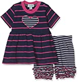 Lilly & Sid Baby Girl's Ruffle Hem Dress Bloomer Set-Pink/Navy Stripe Clothing (Turquoise), 6-12 Months