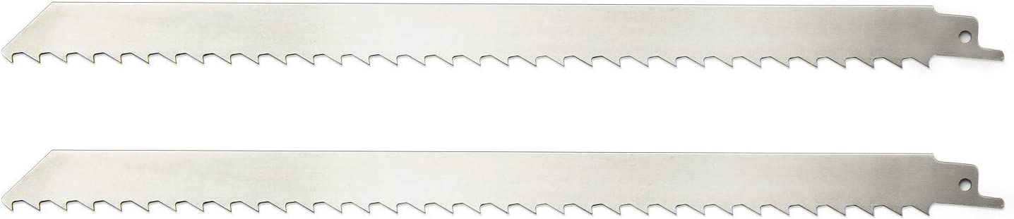 ZUZZEE 2 pcs 300mm Stainless Steel Reciprocating Saw Blades Cutting Tools for Cutting Ice, Frozen Meat, Bone, Beef (12 Inch)