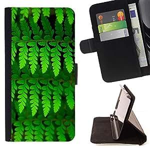 For Sony Xperia Z3 D6603 Case , Hojas verde vibrante verano Naturaleza- la tarjeta de Crédito Slots PU Funda de cuero Monedero caso cubierta de piel