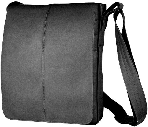 David King Letter - David King & Co. Small Vertical Messenger Bag, Black, One Size