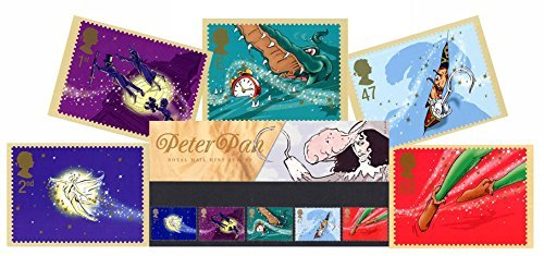 Gift Set of 2002 Peter Pan Presentation Pack and PHQ Cards (Set of 5 Royal Mail Postcards) by Royal Mail Presentation Pack and PHQ Cards
