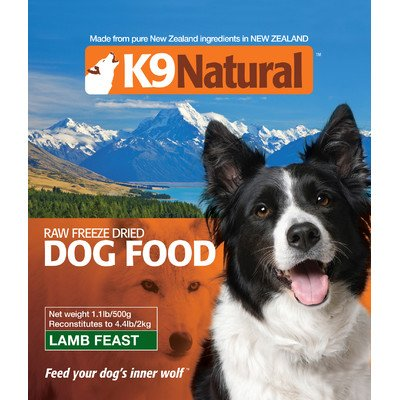 Lamb Feast Freeze Dry Dog Food Size: 1.1 lbs (makes 4.4 lbs)