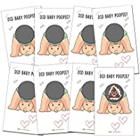24 Baby Shower Poop Emoji Scratch Off Lottery Ticket Raffle Card Game | One Winner | Gender-Neutral, Boy, Girl |Great for Diaper Raffles, Ice Breakers, Door Prizes, and More!