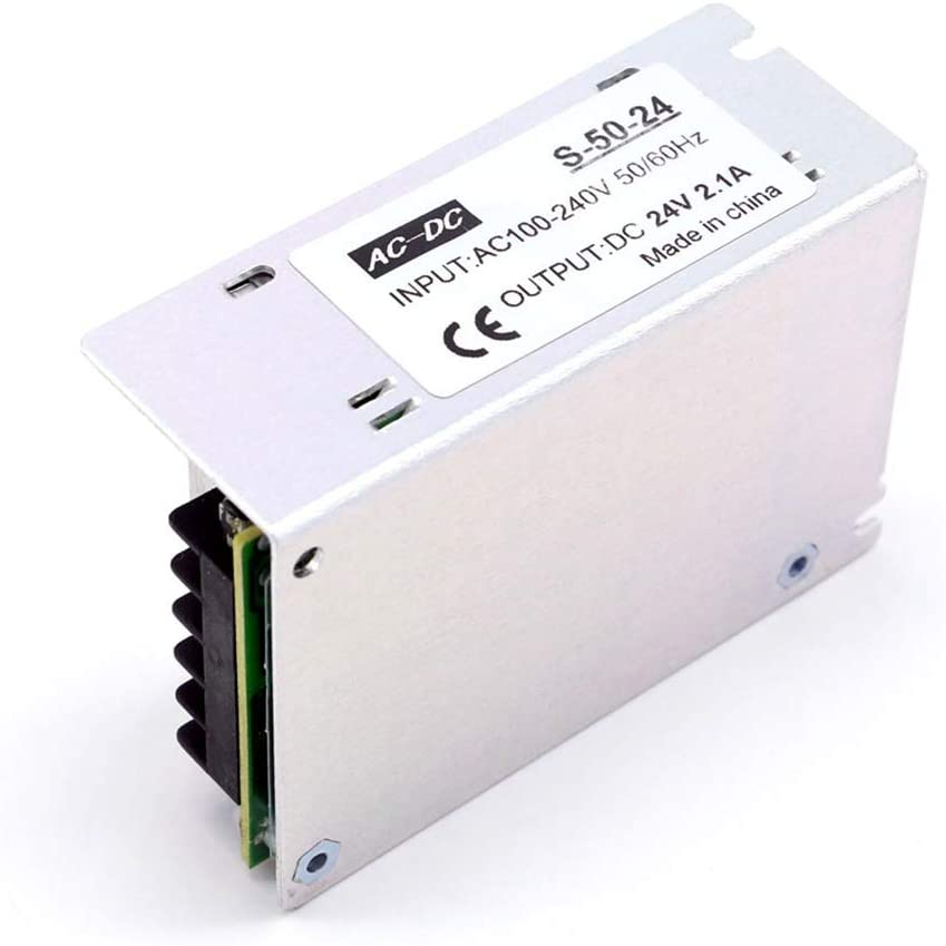 Bobique AC 100-240V to DC 24V 4.2A 100W Voltage Transformer Regulated Switching Power-Supplys Adapter Converter for Strips Light Camera Computer Project Radio