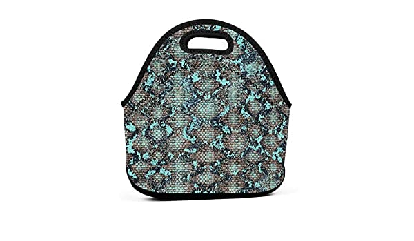 c362a2f53f6c Amazon.com - LKJDAD Serpiente Textura De Animal Lunch Bag, Thick ...