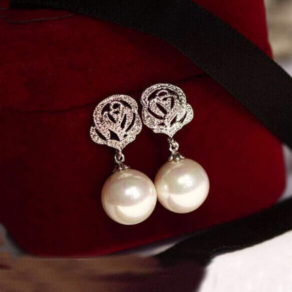Pendientes de aleación de moda Joyería de moda Pendientes de perlas Pendientes de plata 925 Pendientes cortos de estilo lindo