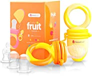 NatureBond Baby Food Feeder/Fruit Feeder Pacifier (2 Pack) - Infant Teething Toy Teether in Appetite Stimulati