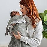 Super Soft Plush Satin Border Baby Receiving Blankets, Gray