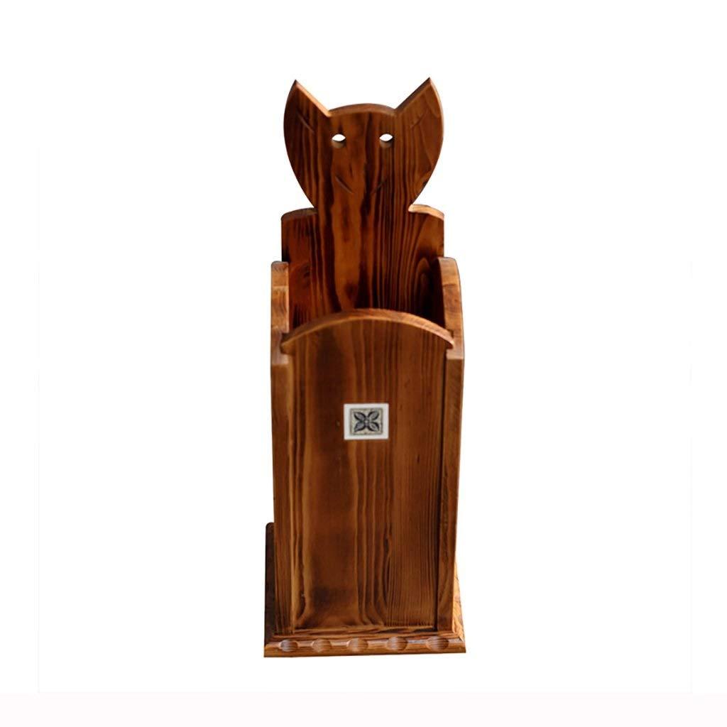 伝統的な木製パイン杖傘スタンドスクエア23 * 23 * 64 cm長ハンドル短ハンドル傘 B07QSRZZ2N