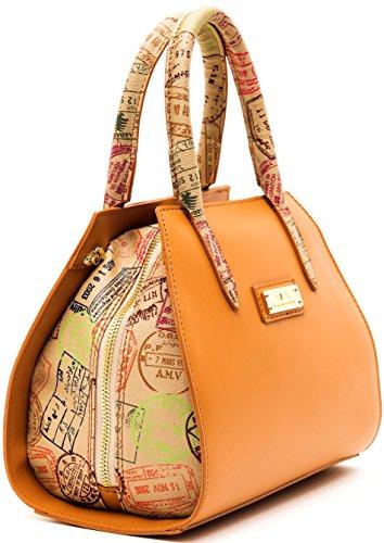 Borsa Bauletto Tracolla Donna Cuoio Beige Piccola Alviero Martini Bag Woman Leather Beige Small