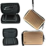 """Yuanhong Anti-shock Aluminium Carry Travel Protecitve Storage Case Bag for 2.5"""" Inch Portable External Hard Drive HDD (Gold)"""