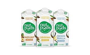 nutpods Dairy Free Coffee Creamer Unsweetened (Variety 3-pack) - Whole30 / Paleo / Keto / Vegan / Sugar Free