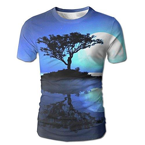Mens Fairy Life Moon Glory Performance Gym Short-Sleeve Baseball Tshirts Top Sports Quick-drying Baseball Shirts Size XX-Large
