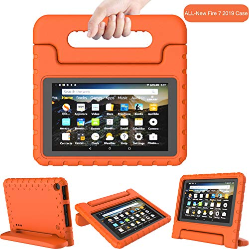 TIRIN Kids Case for All-New Fire 7 2019 - Light Weight Shock Proof Convertible Handle Stand Kid-Proof Case for All-New Amazon Fire 7 Tablet(9th Generation - 2019 Release)(7