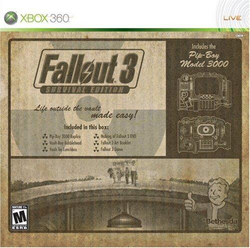 Rare fallout 3 survival edition with pip-boy 3000 xbox 360.