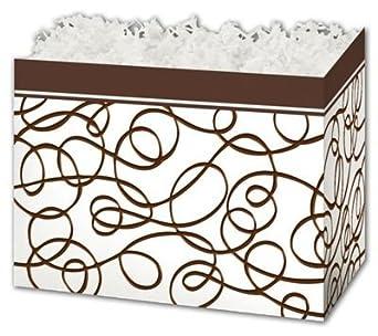 Chocolate llovizna cesta de regalo cajas, 10 1/4 x 6 x 7 1