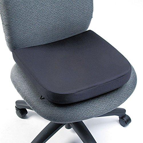 Kensington Memory Foam - Kensington 82024 Memory Foam Seat Rest, 15 1/2w x 16d x 2h, Black