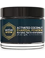 Active Wow Teeth Whitening Charcoal Powder Natural