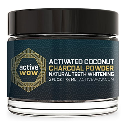 Activated charcoal whitening