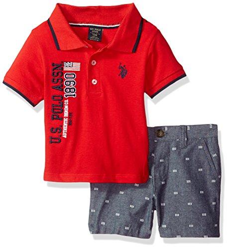 U.S. Polo Assn. Baby Boys Polo Shirt and Short Set