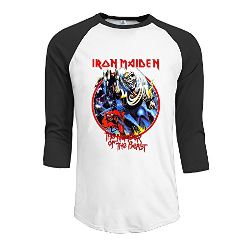 Mens Iron Maiden Vintage Killers 30/1 Heather Jerseys Baseball Raglan T Shirts ()