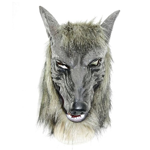 Odowalker Halloween Werewolf Costume Wolf Head Mask (Head)