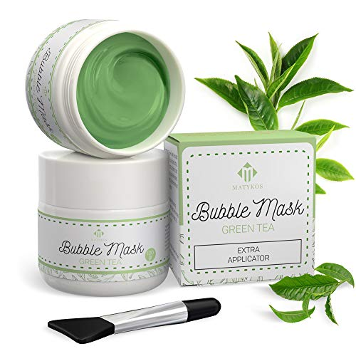 Green Tea Carbonated Bubble Mask With Face Applicator By Matykos