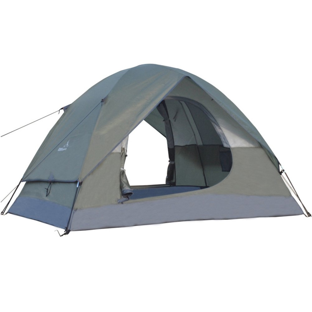TY&WJ キャンプテント, 屋外 防雨 二重層 ドームテント 大 登山 野外活動 ポータブル テント 4 シーズン 3-4 人 220*200*138cm A B07CGJGB73