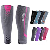 "Graduated Compression Sleeves by Thirty48 -""The Sock Geeks"", Cp Series, Calf/Shin Splint Guard Sock; 1 Pair; Maximize Faster Recovery by Increasing Oxygen to Muscles; Great for Running, Cycling, Walking, Basketball, Football Soccer, Cross Fit, Travel; Money Back Guarantee"