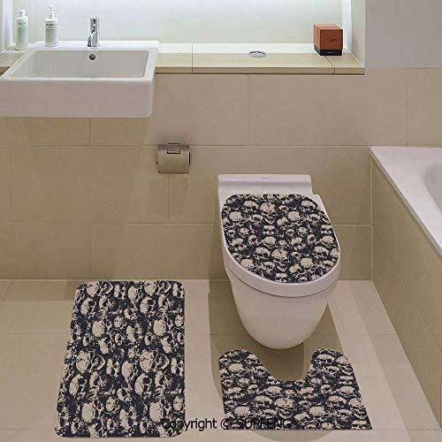 Decorative& home 3 Piece Bath Mat Set Grunge