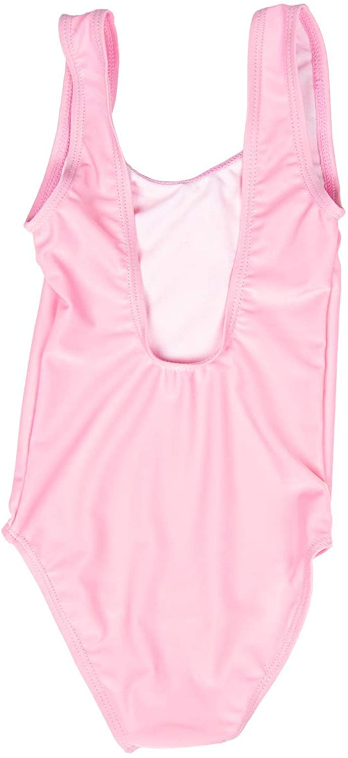 Pink Bday Girl One Piece Swim Suit A Dash of Chic Little Girls Hot Pink Birthday Girl Swimsuit