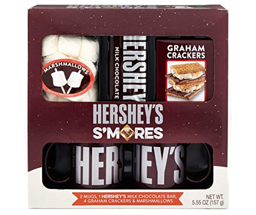 Hershey's S'Mores Holiday Mug Gift Set with Chocolate, Graham Crackers and Marshmallows, 5.55 oz (Smores Kits)
