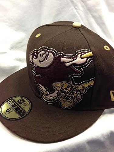 Amazon.com   San Diego Padres Retro Class Friar Fitted Hat MLB ... 4e7e93ece3e2