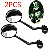 Bike Mirror, 360-Degree Cycling Rear View Mirror Rotatable Bicycle Motorcycle Bike Rear View Mirror Flexible Wide Angle Reflective Mirror 2PCS