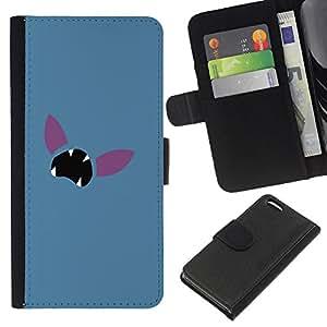 SHELLINA Foto Voltear Cuero Duro Funda Ranura Tarjeta TPU Carcasas Para Smartphone Apple Iphone 5C - cara empuje minimalista