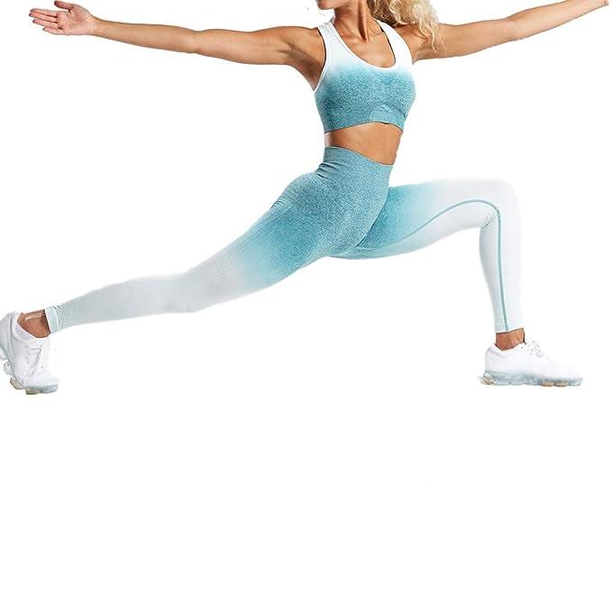 Baywell Damas Conjunto Ropa De Deporte Traje Mujer Bra Chaleco + Pantalon Fitness Leggings Jogging Yoga Set Moda Chandal Verano Sportswear Outfits ...