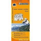 Suisse Nord Regional Map 551 (Michelin Regional Maps)