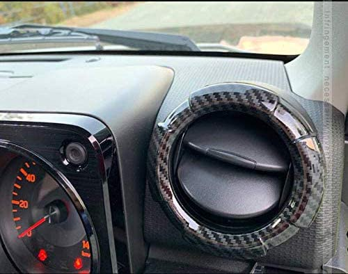 Jimny Carbon fiber Dash Board Air Vent Cover Car Air Outer Vent Decorative Covers For Jimny 2019-2020 JB74 JB64