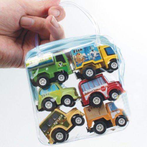 [Classic Boy&Girl Truck Vehicle Kids Child Toy Mini Pull Back Car 6pcs Funny] (Mini Me Baby Costume Uk)