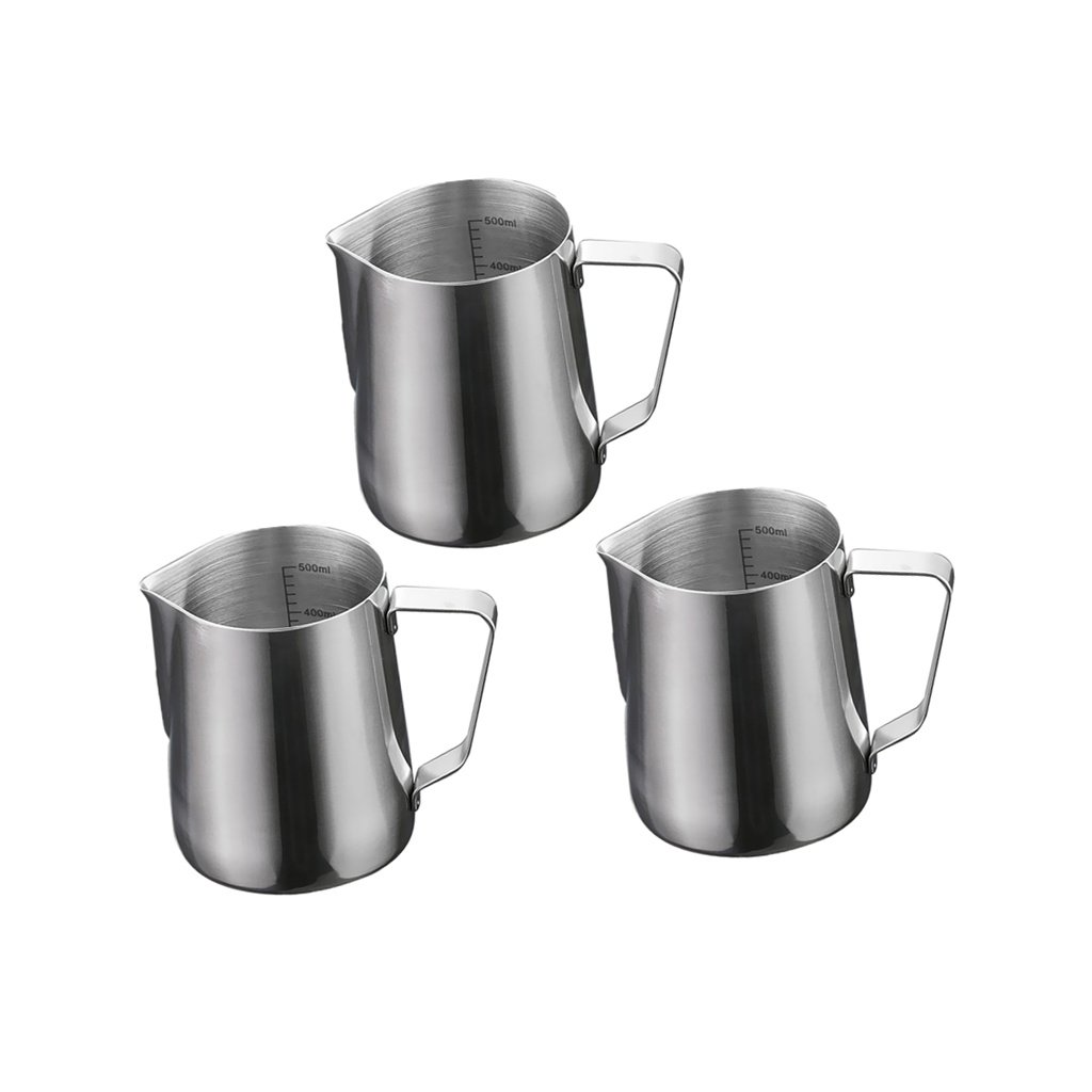 Milk Pitcher Duolo Stainless Steel Creamer Coffee Milk Frothing Pitcher Cup With Dripless Pouring Spout Perfect for Espresso Machine,Cappuccino Hot Milk Frother and Latte Maker CY001 20-Ounce//600ML