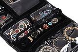 WODISON PU Leather Travel Hanging Jewelry Organizer