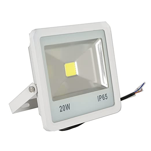 SAILUN 20W Ultra delgado LED Foco proyector para exteriores, Blanco Cálido (2800K-3500K), resistente al agua IP65, Impermeable Iluminación Exterior del ...