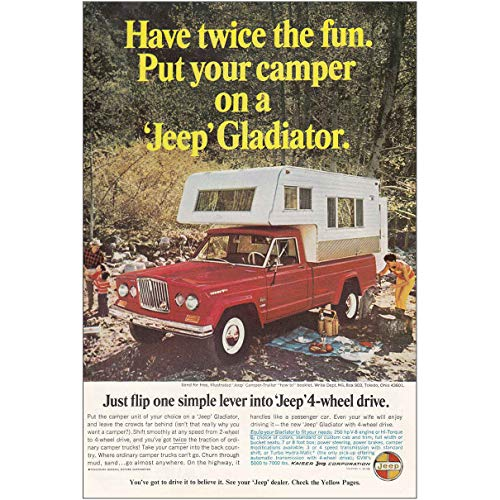 RelicPaper 1966 Jeep Gladiator: Put Your Camper on a Jeep, Jeep Print Ad