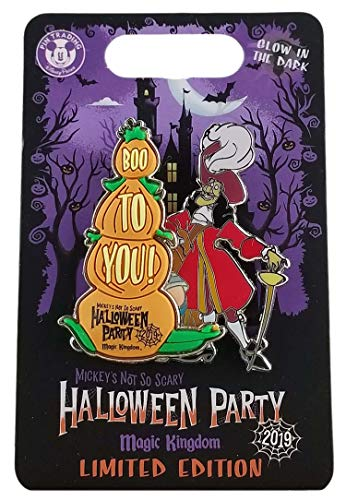 Disney Pin - 2019 MNSSHP - Boo to You Slider - Captain Hook and