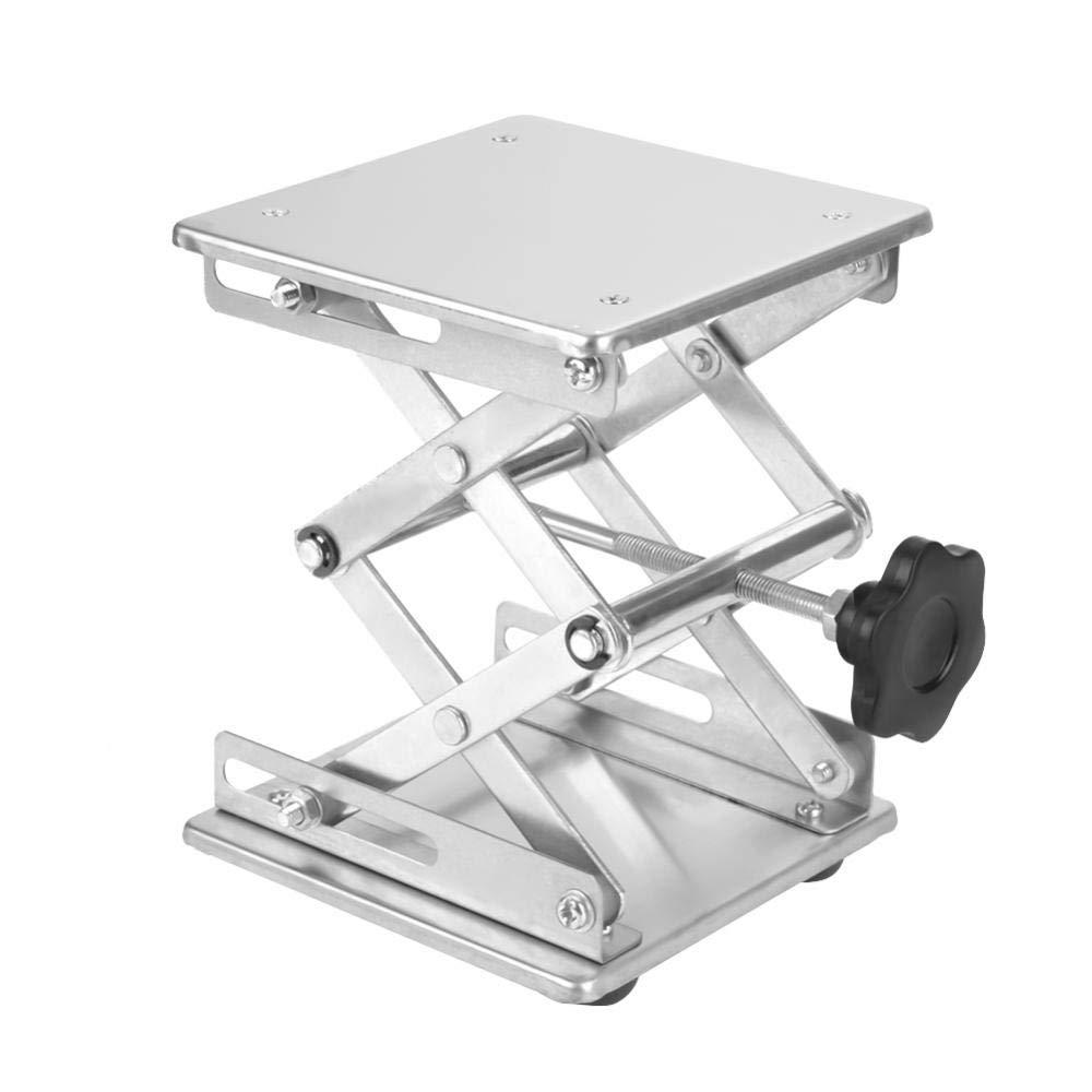 Stainless Steel Lab Jack, Scientific Lab Lifting Platform Stand Rack Height Adjustable Lab Scissor Jack Platform 150×150×250mm