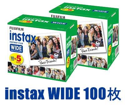 インスタントフイルム instax インスタックス ワイド 5P×2 計100枚   B00PQ64KA4