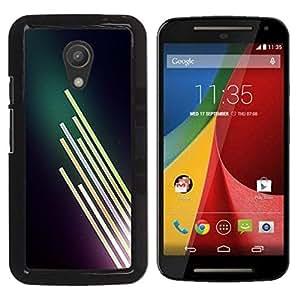 Be Good Phone Accessory // Dura Cáscara cubierta Protectora Caso Carcasa Funda de Protección para Motorola MOTO G 2ND GEN II // Neon Light Bright Dark