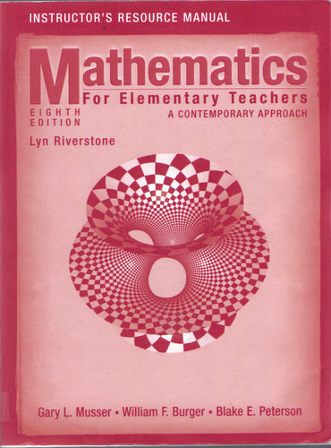 Mathematics for Elementary Teachers A Contemporary Approach Instructor's Resource Manual ebook